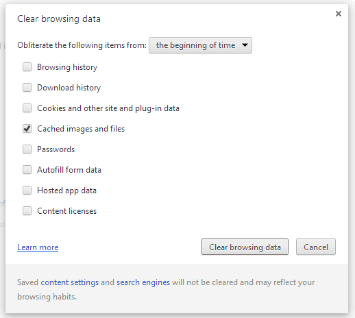 Chrome-Clear-browsing-data-screen